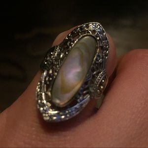 Vintage Abalone Ring